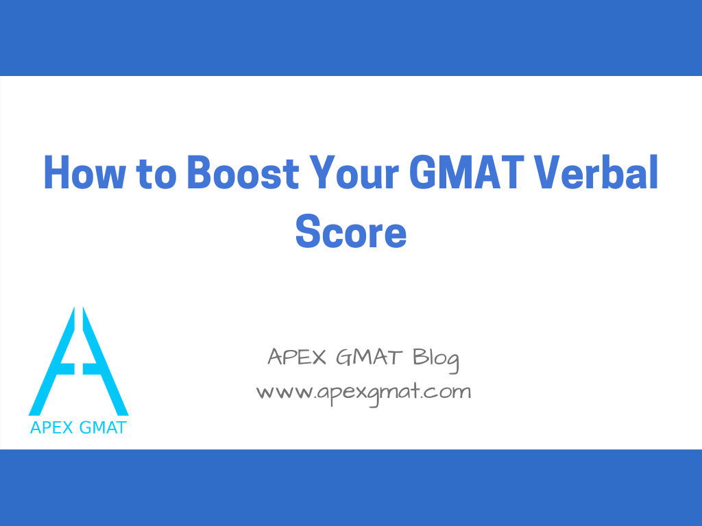 how to boost your gmat verbal score