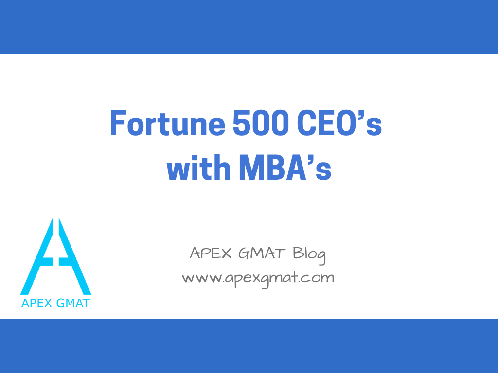 fortune 500 ceos with mbas