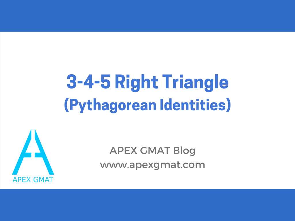 3-4-5 triangles on the gmat