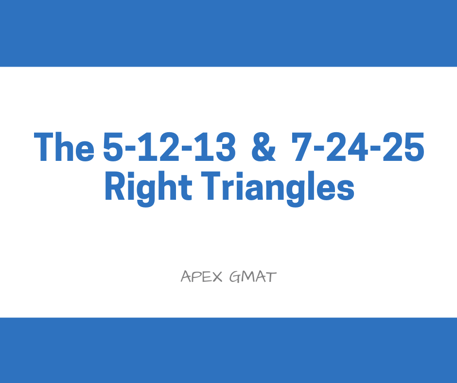 The 5-12-13 and 7-24-25 Right Triangles