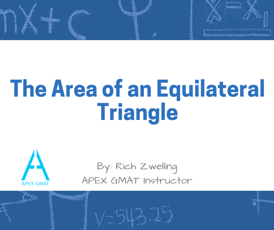The Area of an Equilateral Triangle