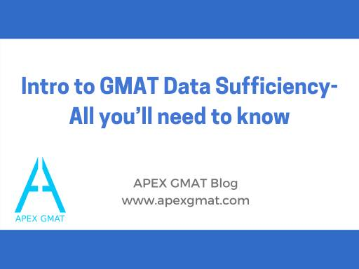 Intro to GMAT data sufficiency article