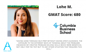 After working with Apex GMAT I not only increased my score to 680 but got over test anxiety