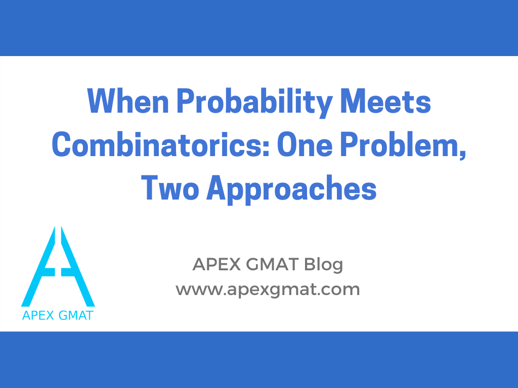 When Probability Meets Combinatorics: One Problem, Two Approaches article