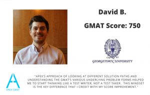 I scored 750 on the GMAT working with Apex GMAT