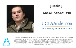 After working with Apex I was able to score a 700 on the GMAT