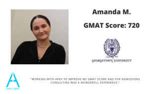 I worked with Apex to score a 750 on the GMAT